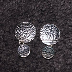 Jewelry: Geometric/Hammered Stud Earrings
